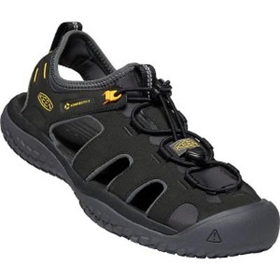 (取寄)キーン メンズ ソーラー サンダル Keen Men's Solr Sandal Black / Gold 送料無料