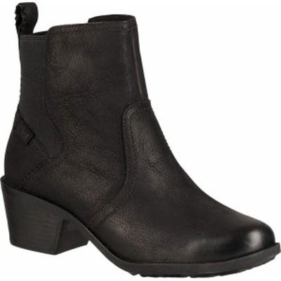 テバ レディース ブーツ・レインブーツ シューズ Women's Teva Anaya Waterproof Chelsea Boot Black Leather