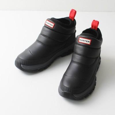 美品 HUNTER ハンター レディース オリジナル インシュレイティド アンクル スノー ブーツ UK6/ブラック 25cm 2400012121546