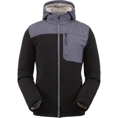 スパイダー ジャケット&ブルゾン メンズ アウター Spyder Men's Alps Full Zip Hoodie Fleece Jacket Black
