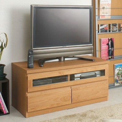 幅101cm 完成品 天然木アルダー材 テレビ台  ローボード TVボード 100幅 ナチュラル TE-0003