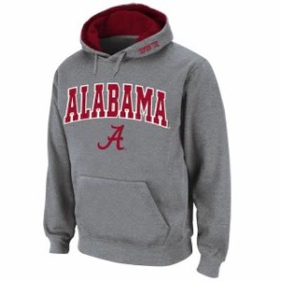 Stadium Athletic スタジアム アスレティック スポーツ用品  Stadium Athletic Alabama Crimson Tide Gray Arch & Logo Pullover Hoodie