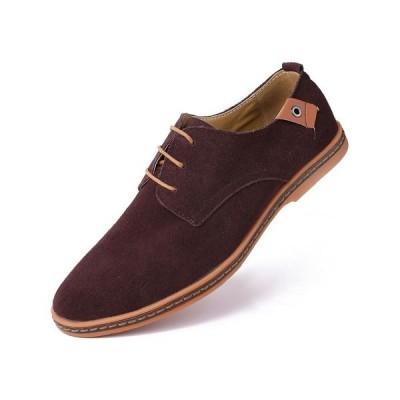 ミオマリオ ドレスシューズ シューズ メンズ Men's Classic Suede Derby Oxford Shoes Dark Brown