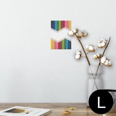 ポスター ウォールステッカー シール式 89×127mm L版 写真 壁 インテリア おしゃれ wall sticker poster カラフル シンプル 003374
