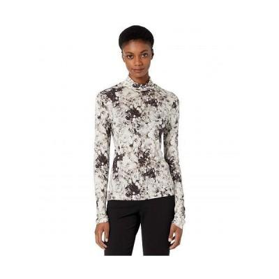 Vince ヴィンス レディース 女性用 ファッション Tシャツ Painted Cream Turtleneck - Black/Cream