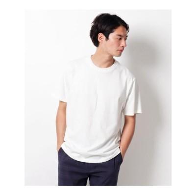 ザ ショップ ティーケーメンズ THE SHOP TK(Men) 切り替えデザインクルーネックTシャツ (オフホワイト)