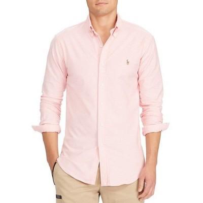 ラルフローレン メンズ シャツ トップス Slim-Fit Solid Stretch Oxford Long-Sleeve Woven Shirt BSR Pink