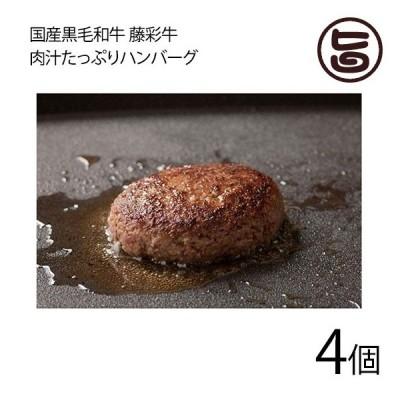 国産黒毛和牛 藤彩牛 肉汁たっぷりハンバーグ 200g×4個 フジチク 送料無料