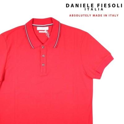 【L】 DANIELE FIESOLI ダニエレフィエゾーリ 半袖ポロシャツ メンズ 春夏 オレンジ 並行輸入品 トップス
