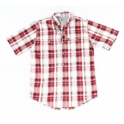 Bass バス ファッション アウター G.H. BASS & CO. NEW Red Mens Size Small S Button Down Plaid Shirt