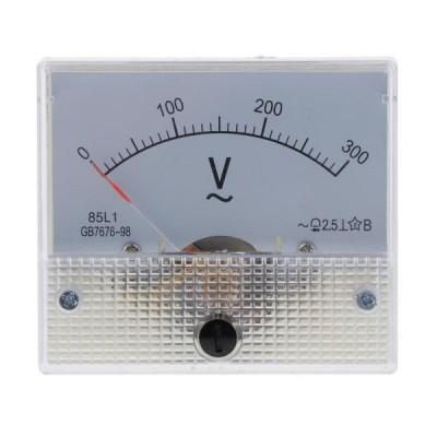 正確な85L1 AC電圧計のアナログのポインターの電圧計の0-300V