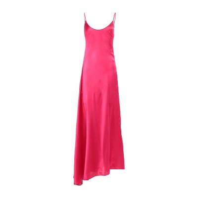 フェデリカ・トシ FEDERICA TOSI ロングワンピース&ドレス フューシャ 38 シルク 94% / ポリウレタン® 6% ロングワンピース