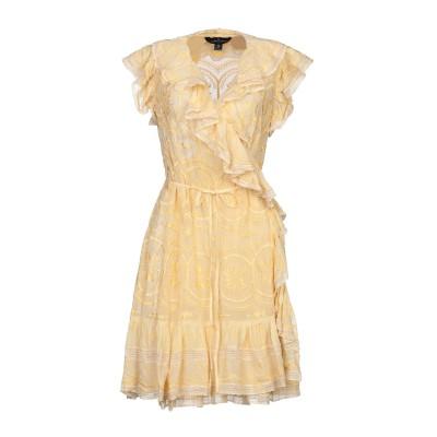 NEEDLE & THREAD ミニワンピース&ドレス ライトイエロー 12 レーヨン 100% / コットン ミニワンピース&ドレス