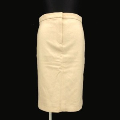 【中古】ルシェルブルー LE CIEL BLEU スカート ひざ丈 ウール混 ベージュ 40 レディース