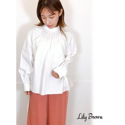 50%OFF Lily Brown  リリーブラウン ボリュームシャツブラウス  20秋冬 LWFT204080 シャツ・ブラウス