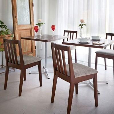小ぶりなダイニングチェア 小スペース用木製チェアフレーム2色業務用家具店舗用家具 marche