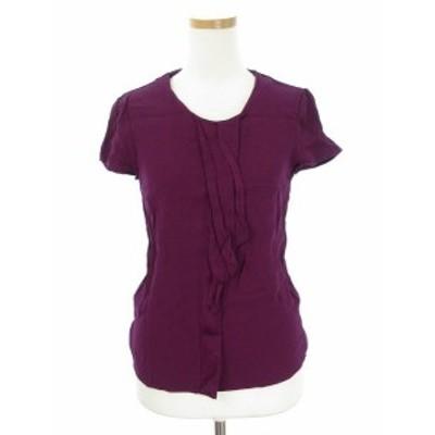 【中古】ヒューゴボス HUGO BOSS BOSS ブラウス カットソー 半袖 2 紫 パープル /fy レディース