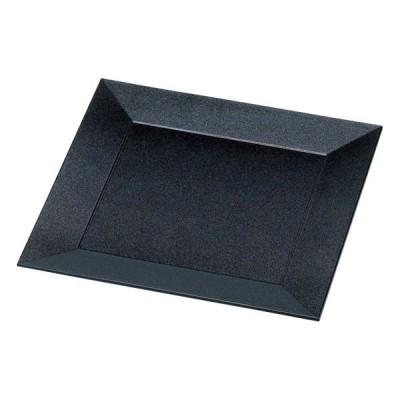 (業務用・正角皿)四方角皿 オーシャンパール渕黒(入数:5)
