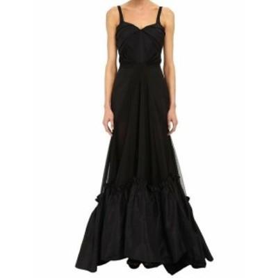 Zac Posen ザック ポーゼン ファッション ドレス Zac Posen NEW Black Womens Size 8 Mermaid Train-Hem Gown