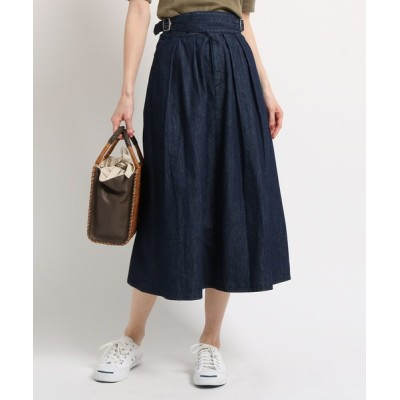 WORLD ONLINE STORE SELECT / 5.5OZデニム タックフレアスカート WOMEN スカート > デニムスカート