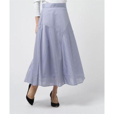 スカート ストライプロングスカート