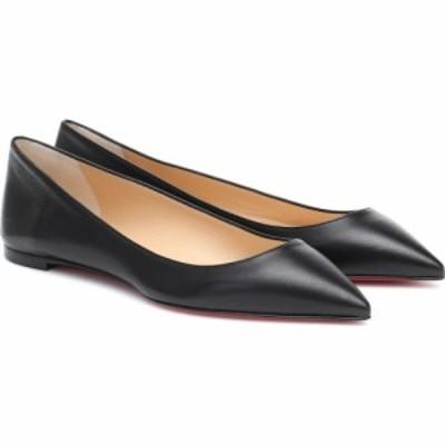 クリスチャン ルブタン Christian Louboutin レディース スリッポン・フラット シューズ・靴 ballalla leather ballet flats Black