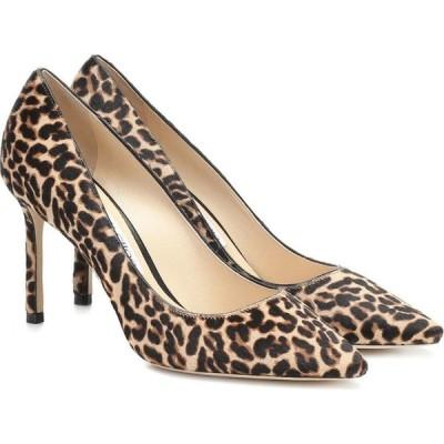 ジミー チュウ Jimmy Choo レディース パンプス シューズ・靴 Romy 85 leopard-print calf-hair pumps Natural Mix