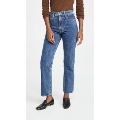 シルバーレーク SLVRLAKE レディース ジーンズ・デニム ボトムス・パンツ London High Rise Straight Jeans Zion