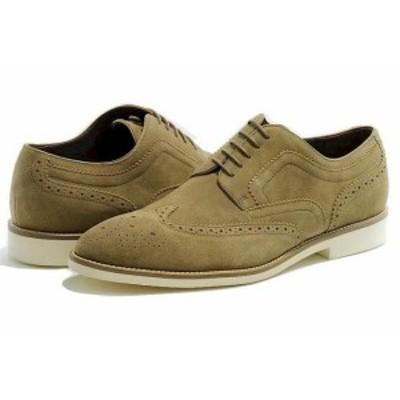 BOSS ボス ファッション ドレスシューズ Hugo Boss Mens Fashion Oxfords Cortios Medium Beige Suede Shoes