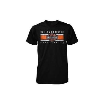 メンズ ウェア Tシャツ ハーレーダビッドソン Harley-Davidson Mens Iconic Bar Shield Short Sleeve T-Shirt, Solid Black