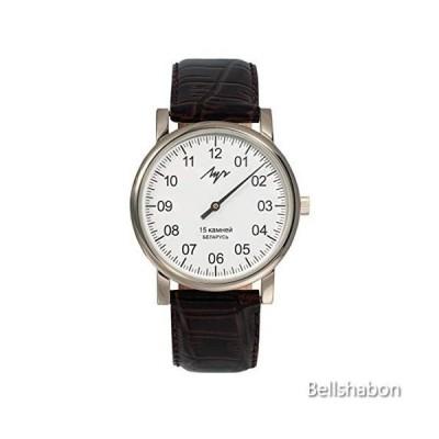 Single Hand LUCH Mechanical Wristwatch. White Dial. Zirconium Nitride (ZrN). 337477760 並行輸入品
