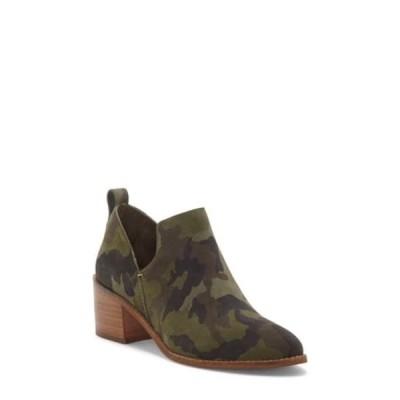 ワンステイト レディース ブーツ&レインブーツ シューズ Idania Leather Block Heel Bootie OLIVE MULTI