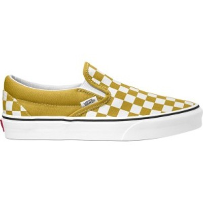 バンズ レディース スニーカー シューズ Classic Slip-On Shoe - Women's (Checkerboard) Olive Oil/True White