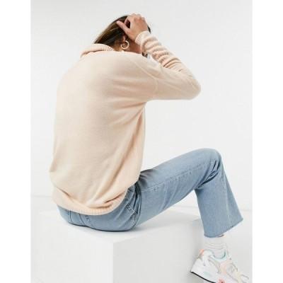 オンリー レディース ニット&セーター アウター Only long sleeve roll neck sweater PINK