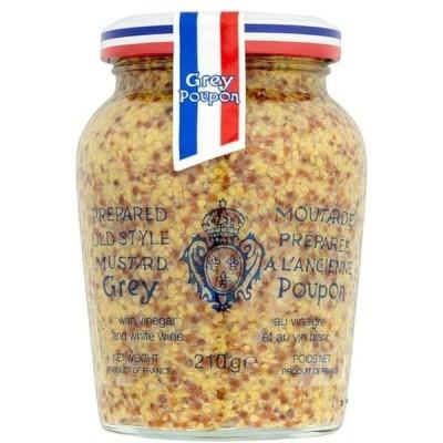 [Grey Poupon] グレーPoupon全粒マスタード210グラム - Grey Poupon Wholegrain Mustard 210G