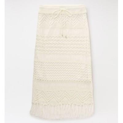 【ラブレス/LOVELESS】 マクラメニット スカート