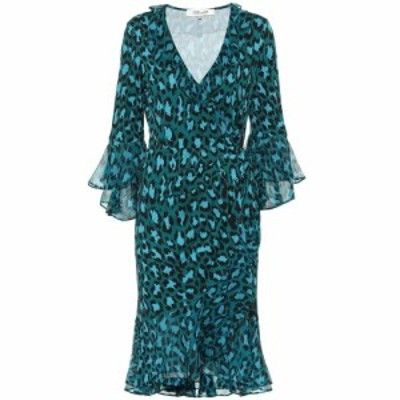 ダイアン フォン ファステンバーグ Diane von Furstenberg レディース ワンピース ラップドレス Carli leopard-print silk wrap dress