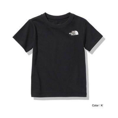 ザ・ノースフェイス THE NORTH FACE ショートスリーブスクエアロゴティー(キッズ) ジュニア半袖Tシャツ NTJ32142-K(ブラック)