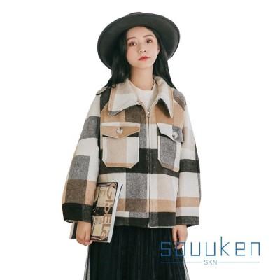 ステンカラーコート レディース 秋冬 防寒 防風 暖かい メルトンコート ショート丈 大きいサイズ ゆったり 体型カバー きれいめ 甘い