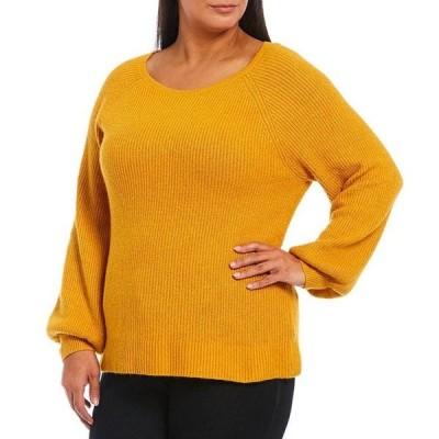 ルビーアールディー レディース パーカー・スウェット アウター Plus Size Cozy Raglan Puff Sleeve Pullover Sweater