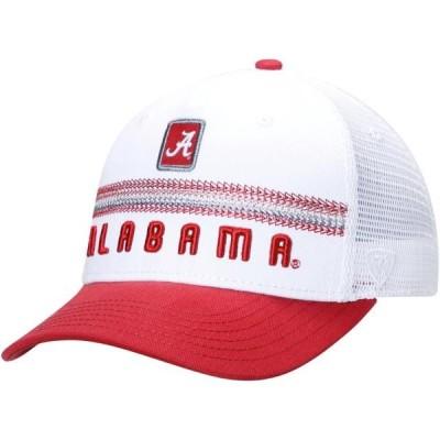 ユニセックス スポーツリーグ アメリカ大学スポーツ Alabama Crimson Tide Top of the World Bayswater Adjustable Trucker Hat - Whit