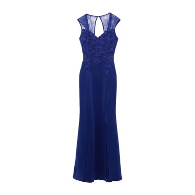LIPSY ロングワンピース&ドレス ブルー 10 ポリエステル 95% / ポリウレタン 5% / ナイロン ロングワンピース&ドレス