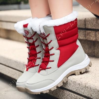 レディースブーツ ファー レディースシューズ 防寒 レディース靴 冬 ショートブーツ 女性 ムートンブーツ ファー シューズ 痛くない 冬ブーツ 内ファー