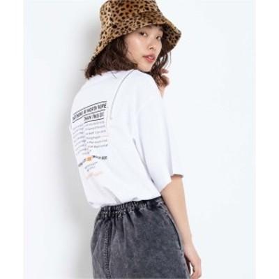 ウィゴー(レディース)(WEGO)/バックロゴショルダーZIPTシャツ