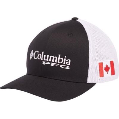 コロンビア Columbia メンズ キャップ トラッカーハット 帽子 PFG Mesh Trucker Hat Black/Canada Flag