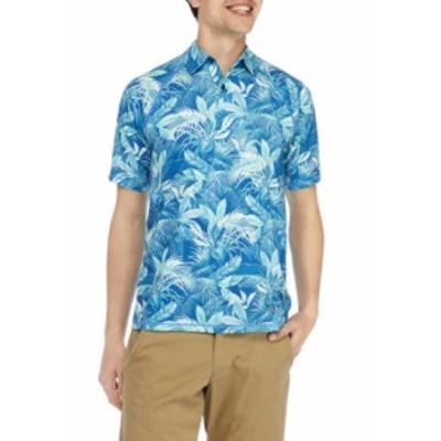 トッミーバハマ メンズ シャツ トップス Men's IslandZoneR Fuego Palms Polo Shirt BRIGHT COBALT