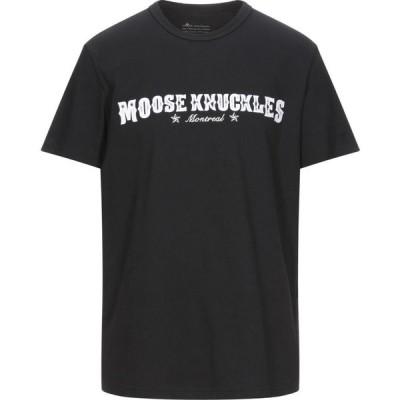 ムースナックル MOOSE KNUCKLES メンズ Tシャツ トップス t-shirt Black