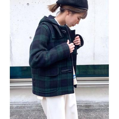 【フレディアンドグロスター】 RINA SHORT CHECK ダッフルコート(LT60) レディース ネイビー系1 34 FREDY&GLOSTER