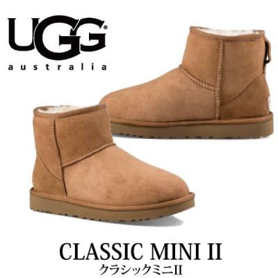 UGG アグ 2017-2018年秋冬新作 CLASSIC MINI II クラシックミニ 1016222 チェスナット ショートブーツ レディース シープスキン