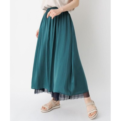 ZAMPA(ザンパ) リバーシブルプリーツロングスカート